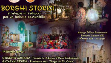 """Continua il percorso dell'associazione """"Borghi da Ri...Vivere"""", appuntamento il 23 ottobre all'albergo diffuso """"Ecobelmonte"""""""